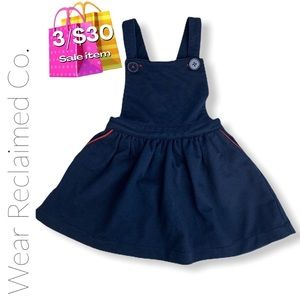 🛍3/$30🛍 Girl's Navy Knit Overall Jumper Dress